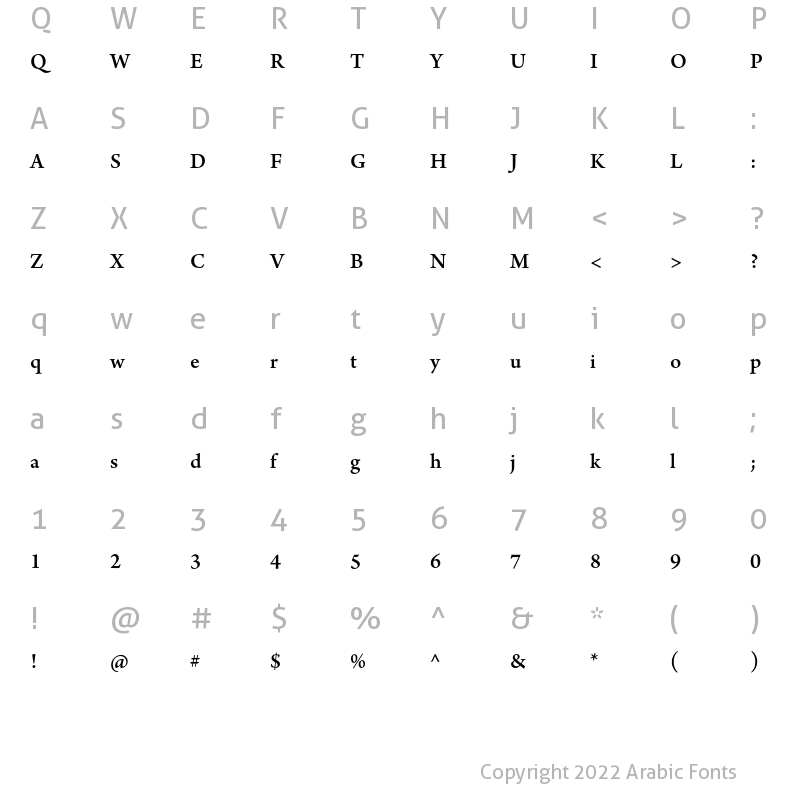 Adobe Arabic Bold Italic Font